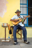 Musician playing traditional music in Havana Royalty Free Stock Photography