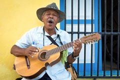 Musician playing traditional music in Havana Stock Images
