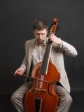 Musician playing the viola da gamba Royalty Free Stock Photography