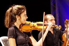 Musician playing violin Stock Image