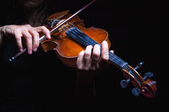 Musician playing violin Stock Image