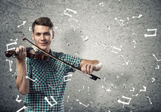 Musician playing violin Royalty Free Stock Photo