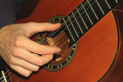 Hand of the musician Royalty Free Stock Photography