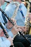 Musician plays the clarinet Stock Photos