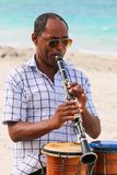 The musician plays the clarinet, Cuba, Varadero Stock Photos