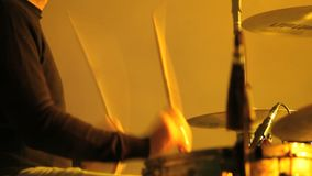 Musician plays the drum Stock Photography