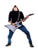Musician plays the guitar Royalty Free Stock Photography