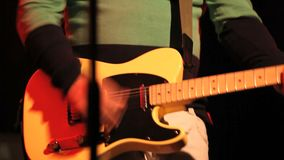 Musician plays the guitar stock video footage