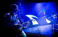 Musician plays a guitar Stock Photos