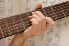 Musician plays a musical instrument,guitarist Stock Photos
