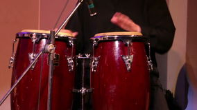 Musician Plays Percussions stock video