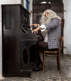 Musician plays the piano Royalty Free Stock Photos