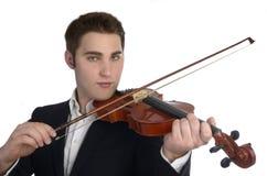 Musician plays violin Royalty Free Stock Image
