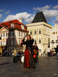 Musician Prague Top Tourism Traveling Royalty Free Stock Photography