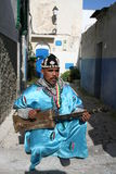 Musician in rabat, morocco stock photography