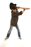 Musician in a rage Stock Image