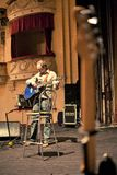 musician rehearsing stage Στοκ Εικόνες