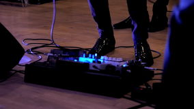 Musician at a rock concert stock footage