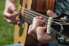 Musician's hand closeup Royalty Free Stock Images