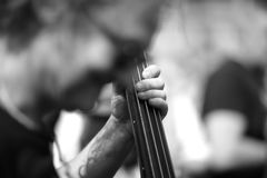 Musician`s hand Stock Photo