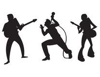 Musician Silhouettes Stock Image