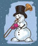 Musician Snowman Stock Photos