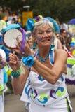 A musician from Street Heat Samba Band Stock Image