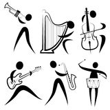 Musician symbol Royalty Free Stock Photo