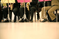 Musician team. Playing in concert Royalty Free Stock Image