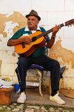 Musician in Trinidad street, cuba Royalty Free Stock Images