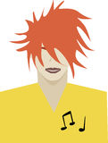 Musician user interface avatar icon Royalty Free Stock Photo