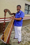 Musician from Veracruz with harp Stock Image