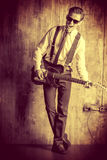 Musician vintage Royalty Free Stock Image