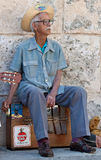 Musician wearing typical clothes in Havana Royalty Free Stock Images