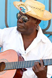 Musician wearing typical clothes in Havana Stock Image