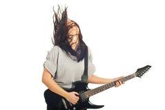 Musician woman enjoy the music Royalty Free Stock Photos