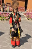 Musician of the Yi Minority, China Royalty Free Stock Photos