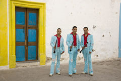 Musicians. Three musicians from the town of Jerez, State of Zacatecas in Mexico royalty free stock photography
