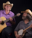 Musicians. Enjoying time together during break Royalty Free Stock Photography