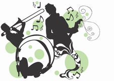 Musicians. Illustration of musicians Stock Images