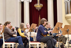 Musicians of the Andreyev State Russian Orchestra Royalty Free Stock Images