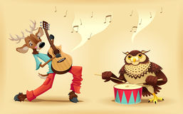 Musicians animals. Stock Images