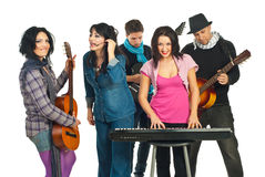 Musicians band Royalty Free Stock Photo