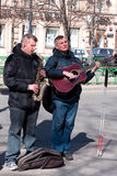 Musicians. Blind musicians play on the city street Stock Images