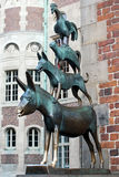 The Musicians of Bremen statue Royalty Free Stock Images