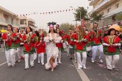 Musicians in carnival parade Stock Photos