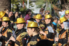Musicians in Carnival Parade Royalty Free Stock Photography