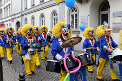 Musicians in carnival street parade Royalty Free Stock Photography