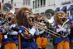 Musicians in Carnival Royalty Free Stock Images