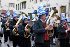 Musicians in Carnival Royalty Free Stock Photo